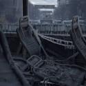 Замерзлий та спалений автобус правоохоронців на вулиці Грушевського, ранок 20 січня 2014 року. Автор: Сергій Моргунов
