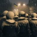 Бійці внутрішніх військ у центрі Києва під снігопадом, 10 грудня 2013 року. Автор: Валентин Ориженко, Reuters